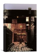 cobbled back streets of Liverpool UK, Canvas Print
