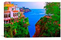 Turkish coastline resort of Antalya, Canvas Print
