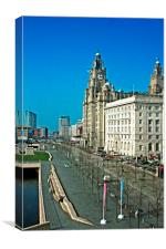 Liverpool waterfront buildings, Canvas Print