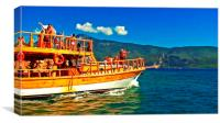 A daily cruise boat in Turkey , Canvas Print