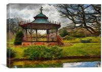 A Digital painting of the Bandstand in Sefton Park, Canvas Print