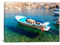 Greek Boat, Canvas Print