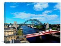 Tyne Bridge Olympics 2012, Canvas Print