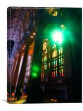 Sagrada Familia Dramatic Light, Canvas Print