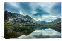 The lake Enol, Canvas Print