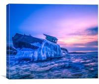 Frozen boat, Canvas Print