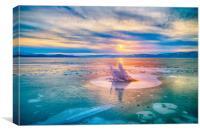 The Strange Ice Circle of Baikal, Canvas Print
