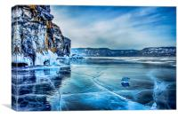 Lake Baikal. March, Canvas Print