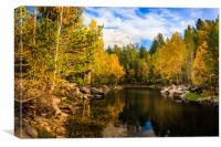 Autumn, Hidden Lake, Canvas Print
