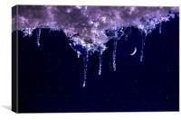 Cold night, Canvas Print