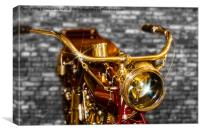 Old Motorcycle , Canvas Print
