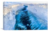The crack of Baikal ice, Canvas Print