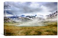Lago Ercina in National park Picos de Europa, Canvas Print