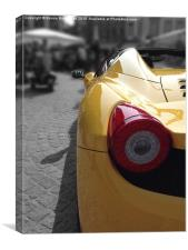 Fast Yellow 458 Spider, Canvas Print