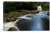 West Burton falls, Yorkshire Dales NP , Canvas Print