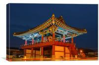 Jeongsulu temple, Canvas Print