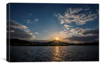 Sunset from Yansan River, Canvas Print