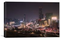 awakened night city, Canvas Print
