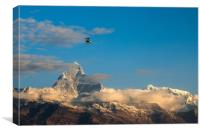Flying Ultralight, Canvas Print