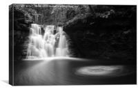 Goitstock Waterfall , Canvas Print