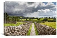 Through the dry stone walls, Canvas Print