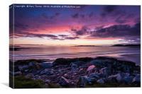 Traigh lar Sunset Isle of Harris, Canvas Print