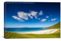 Traigh na Cleabhaig beach, Isle of Harris, Canvas Print