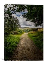 Leading to Hey Clough Portrait, Canvas Print