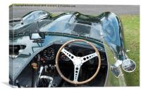Jaguar D Type Cockpit, Canvas Print