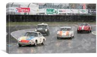 Sports and GT cars at LeMans, Canvas Print