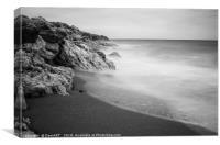 Beach of Los Molinos, Canvas Print