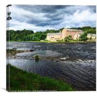 River Tay Stanley Mills, Canvas Print