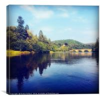 River Tay Dunkeld , Canvas Print