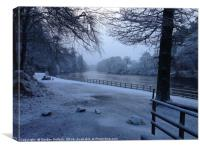 Dunkeld In The Snow , Canvas Print