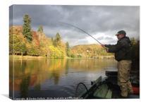 Salmon Fishing River Tay, Canvas Print