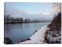 Winter On The Tay         , Canvas Print