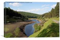 Howden Reservoir in the Peak Distrct, Canvas Print