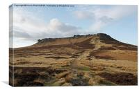 Higger Tor Peak District, Canvas Print