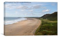 Gower Beach Rhossili, Canvas Print