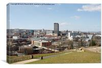 Sheffield city centre, Canvas Print