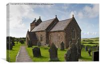Llanmadoc Church, Canvas Print