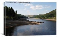 Derwent Reservoir, Canvas Print