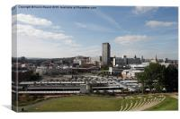 View of Sheffield city centre skyline, Yorkshire, , Canvas Print