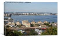View of Cardiff Bay and Penarth Marina, Canvas Print