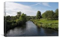 River Wye Bakewell, Canvas Print