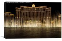 Belagio Fountain Las Vegas USA, Canvas Print