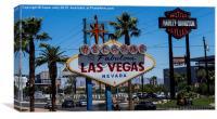 Las Vegas sign, Las Vegas, USA, Canvas Print