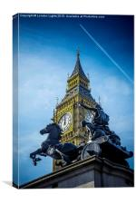 Onwards and Upwards @londonlights, Canvas Print