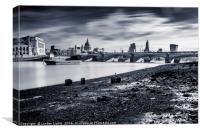Hazy City @londonlights, Canvas Print