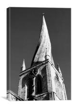 The Crooked Spire, Canvas Print